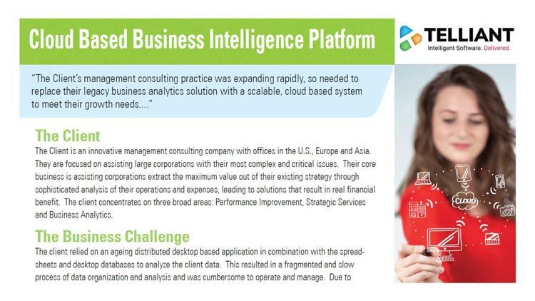 Cloud Based Business Intelligence Platform