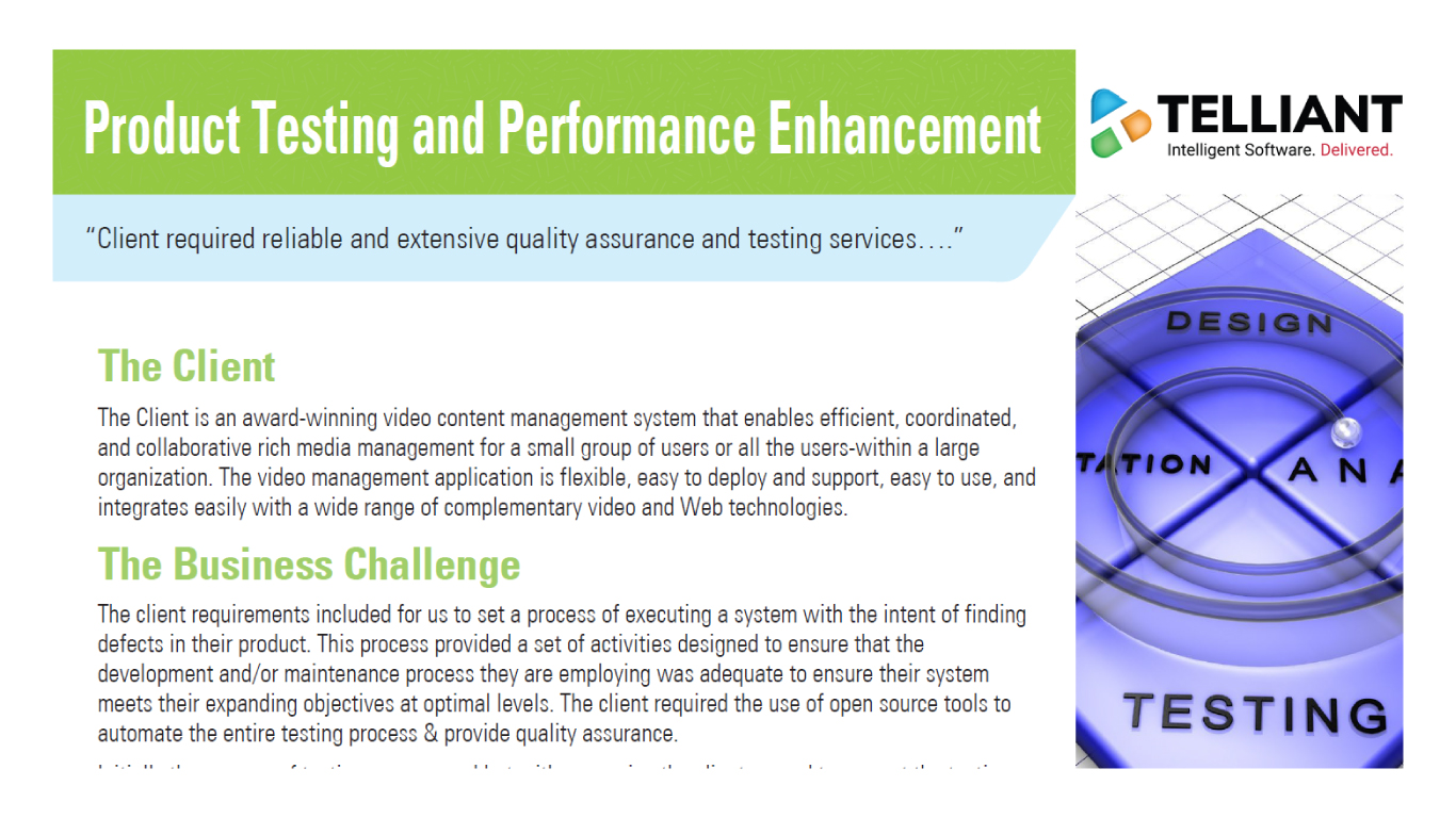 Product Testing and Performance Enhancement Case Studies