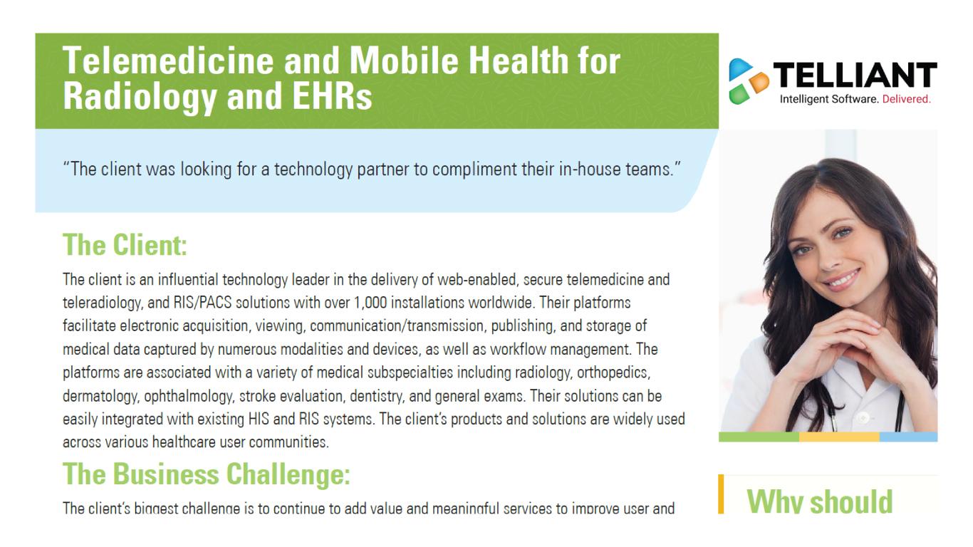 Telemedicine Mobile Health Case Studies